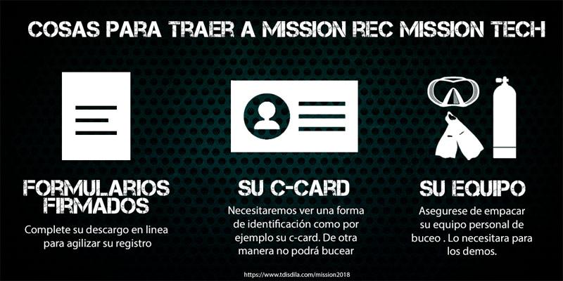Cosas para traer a Mission REC Mission TECH